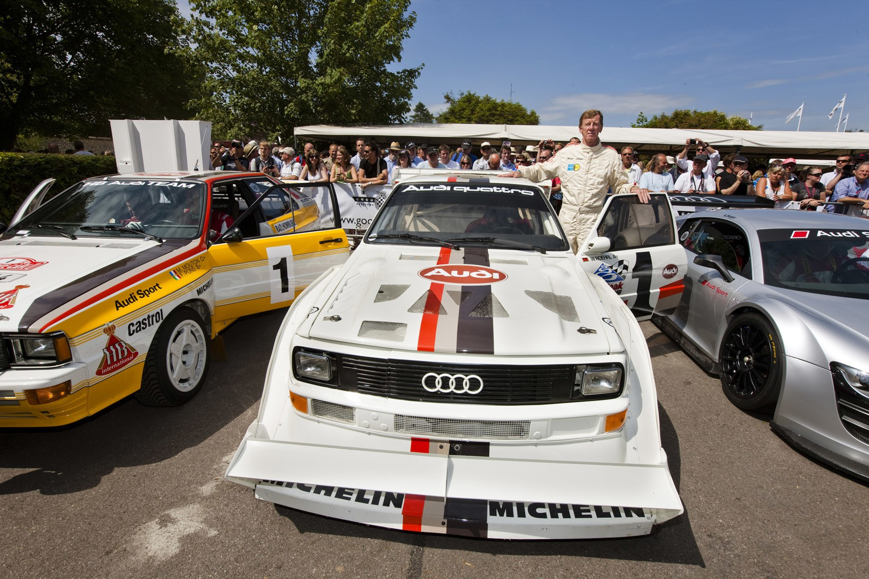 "Wereldkampioen Rally Walter Röhrl and the Audi Sport quattro S1 ""Pikes Peak"""