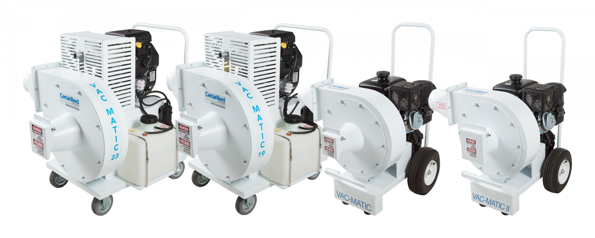 CertainTeed Machine Works expands its line of insulation removal equipment with three new Vac-Matic industrial vacuums and a new debris filtering device.