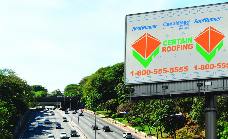 Certainteed 174 Roofrunner Underlayment Customization Lets Companies Brand Each Jobsite