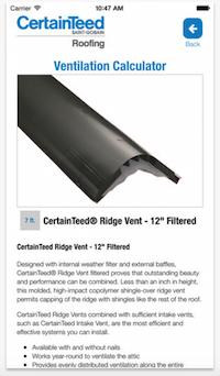 CertainTeed, North Americau0027s Leading Building Materials Manufacturer, Has  Announced The Availability Of Its New Roofing Ventilation Calculator Mobile  ...
