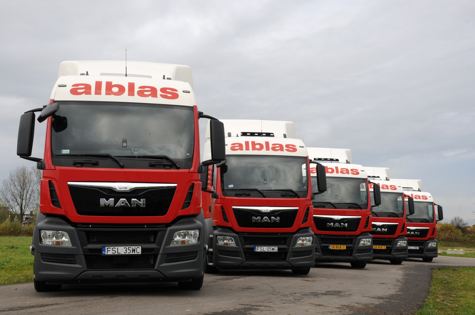 MAN trucks voor Alblas Transport