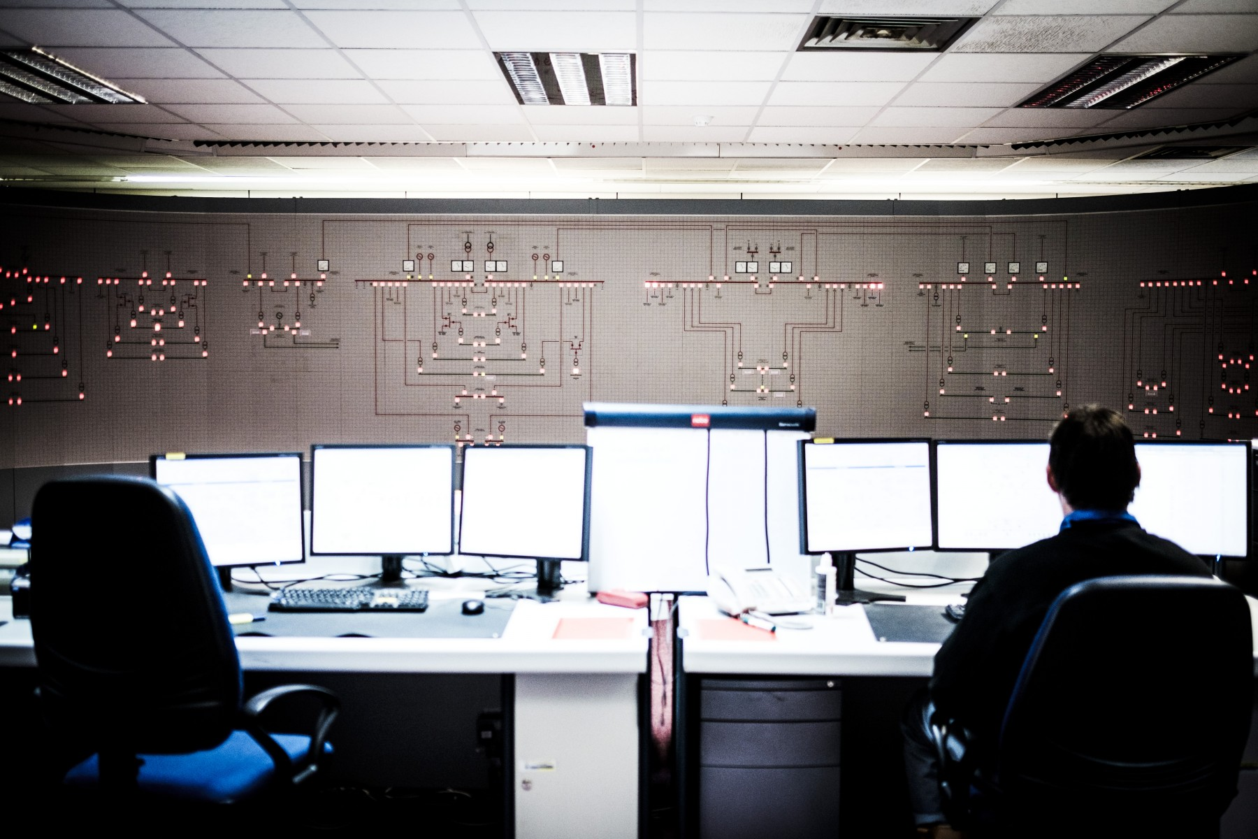 A control room at the Sellafield nuclear site in Cumbria