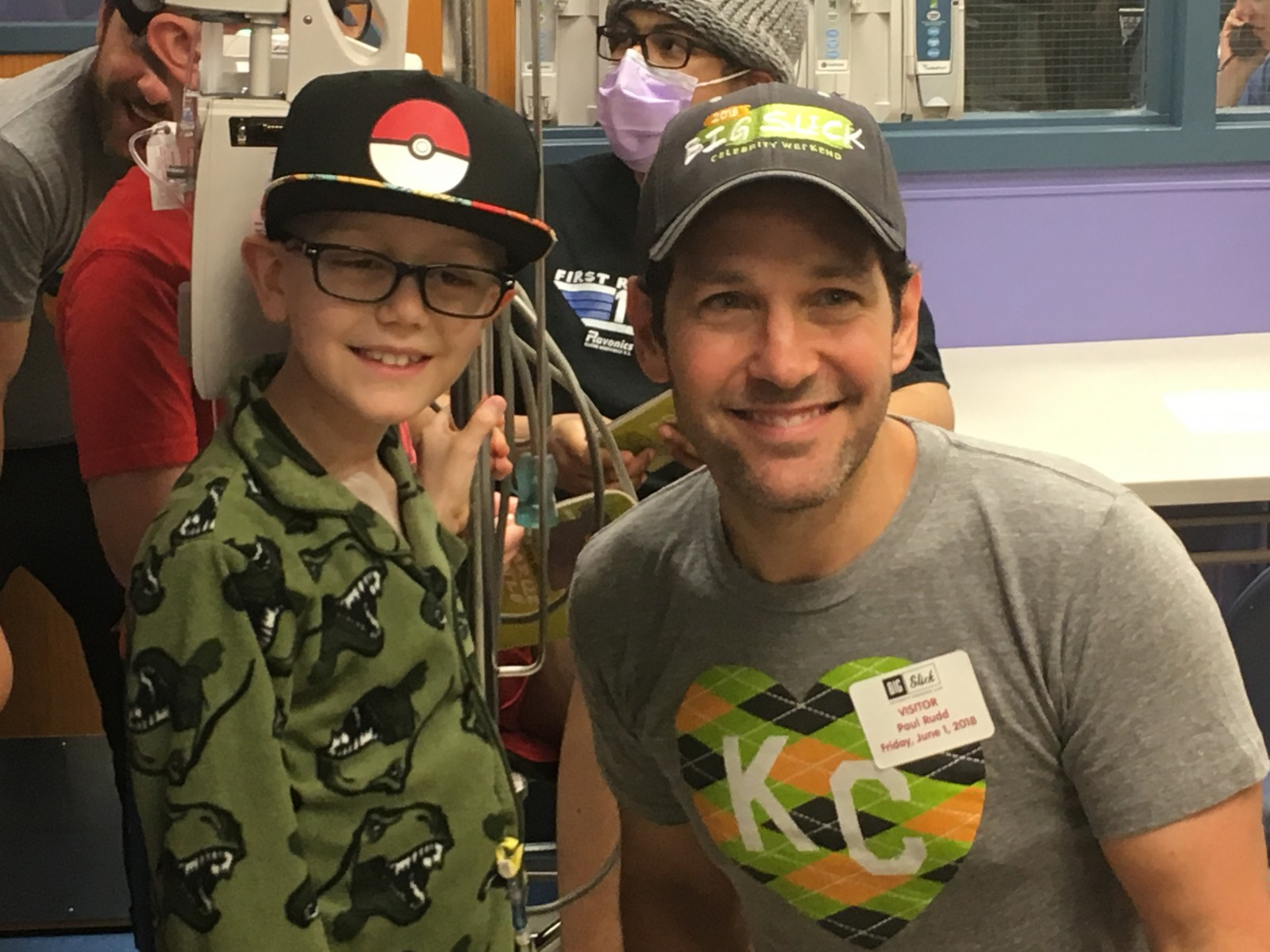 Peyton and Paul Rudd