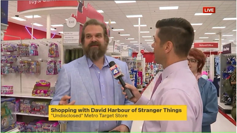 Stranger Things Actor at Target