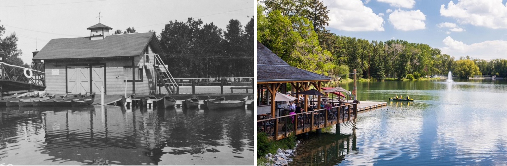 Bowness park before and after