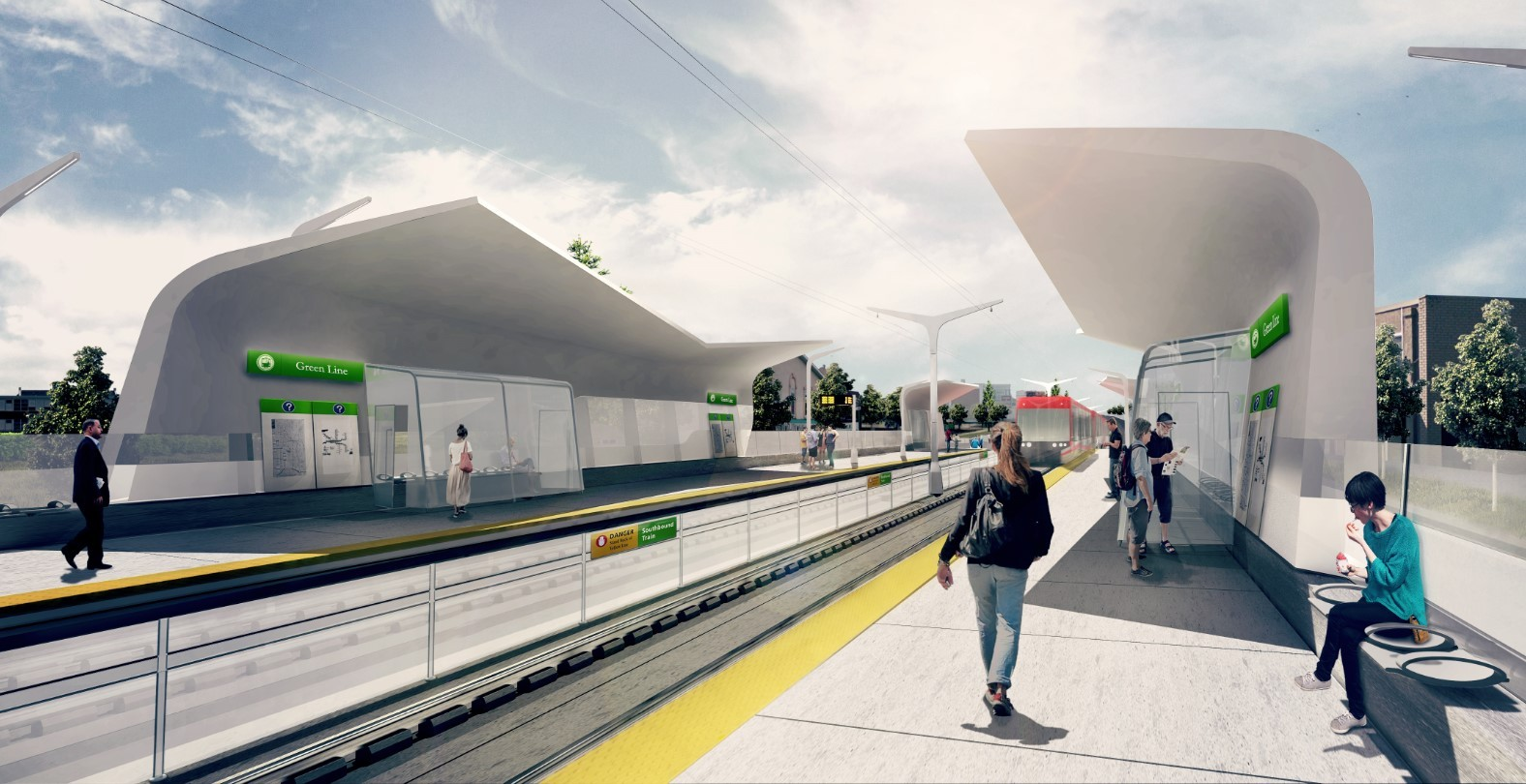 Construction on the Green Line LRT is set to begin in 2020 with first passengers hopping aboard in 2026.