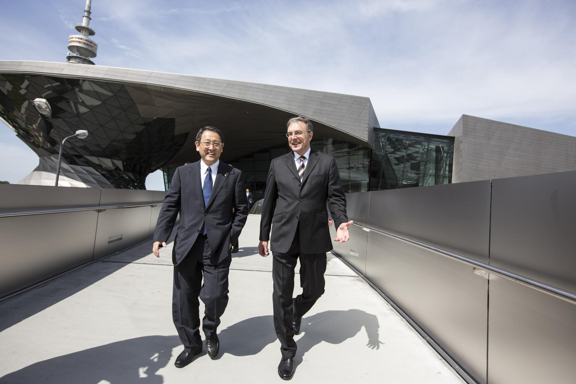 2012 TMC President Akio Toyoda and BMW Chairman of the Board Norbert Reithofer