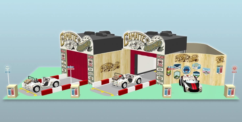 toyota présente le simulateur de voyage camatte journey au salon du