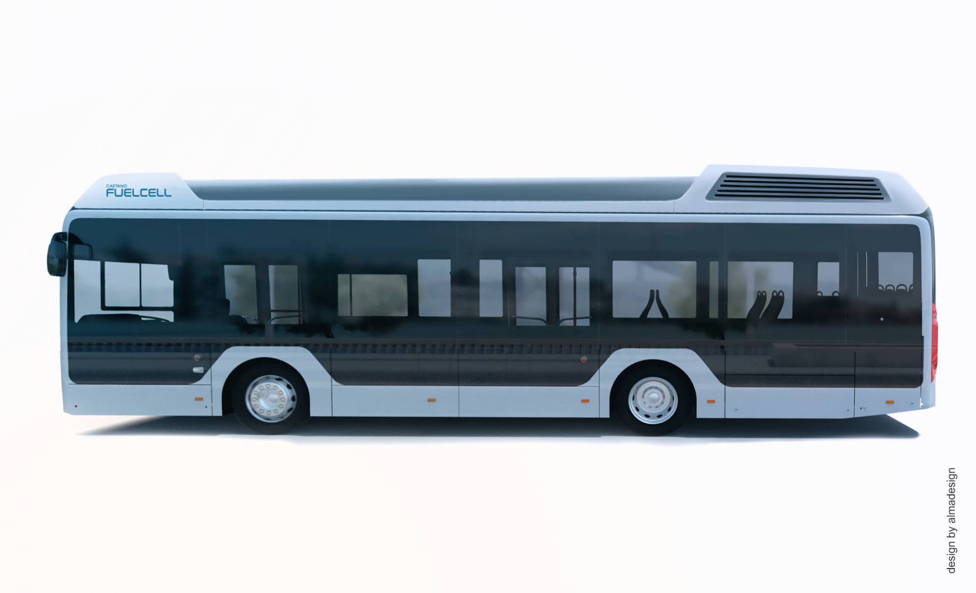 hydrogen fuel cell city bus