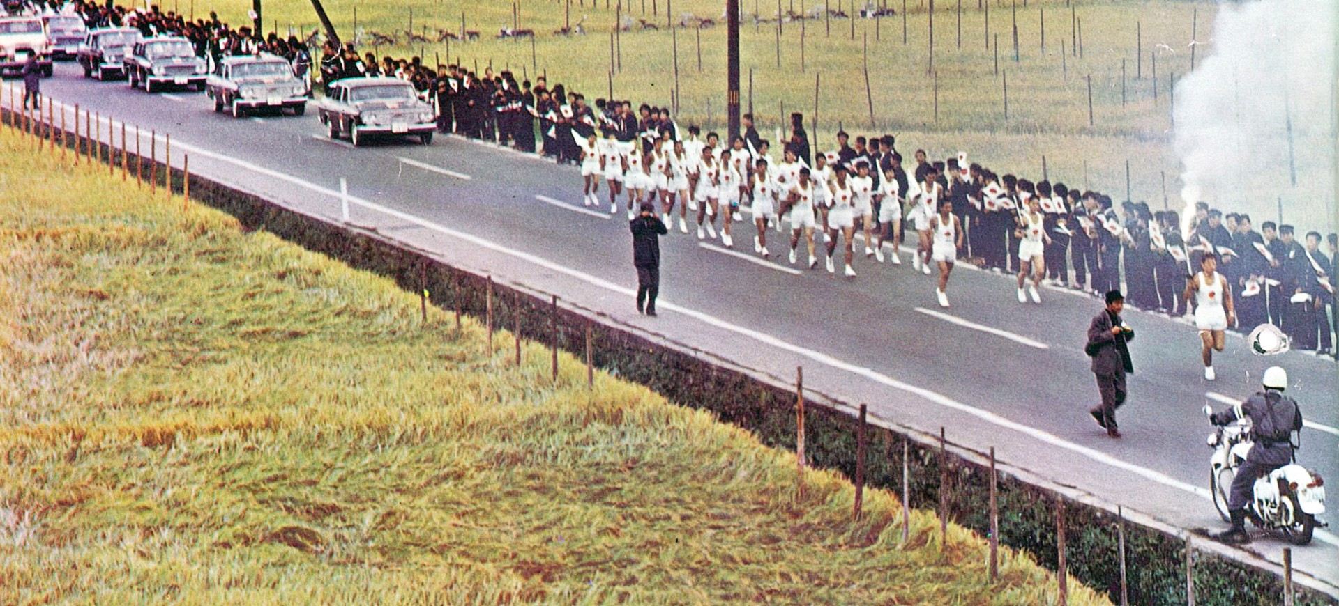 Top banner-Toyota vehicles  from Tokyo 1964 Torch Relay