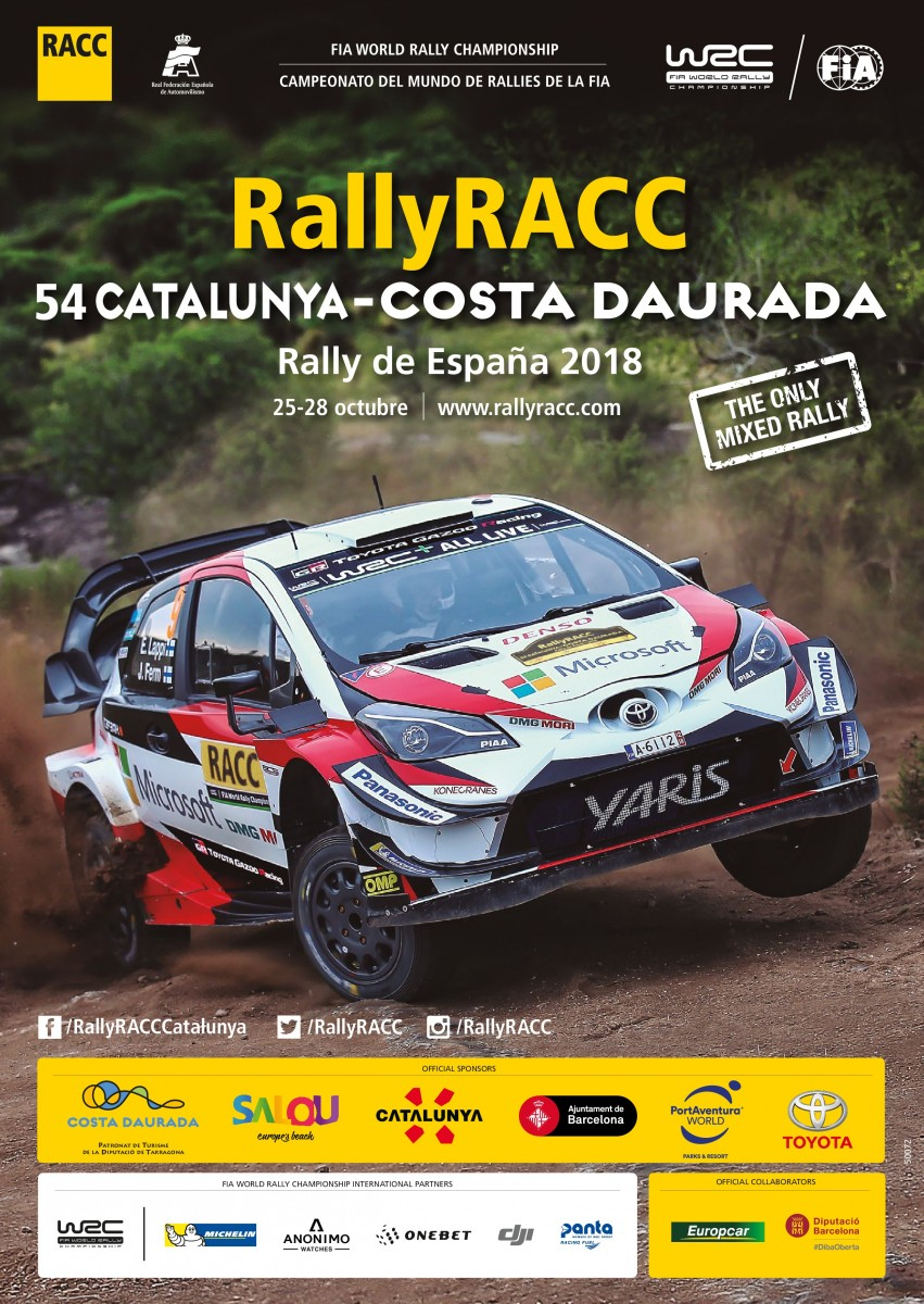 TOYOTA GAZOO Racing WRC - Rally Cataluña (Póster)
