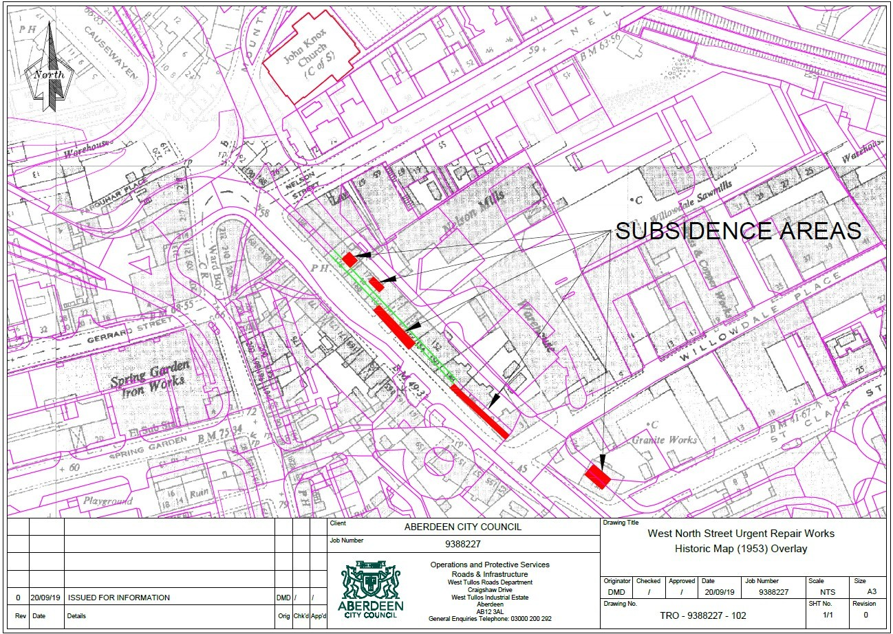 West North Street subsidence map 2