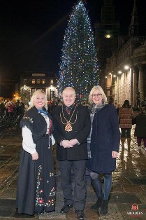 Lord Provost George Adam and guests