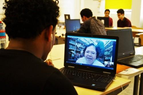 Waardevolle interactie via skype tussen studenten Albeda College en ouderen van Humanitas