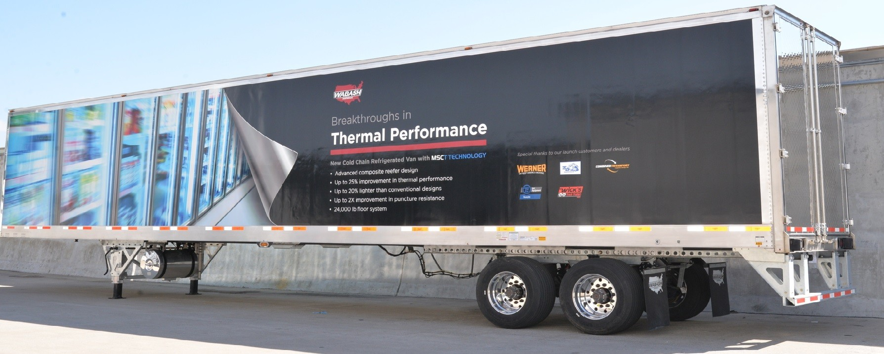 Wabash National S All Composite Refrigerated Trailer Moves
