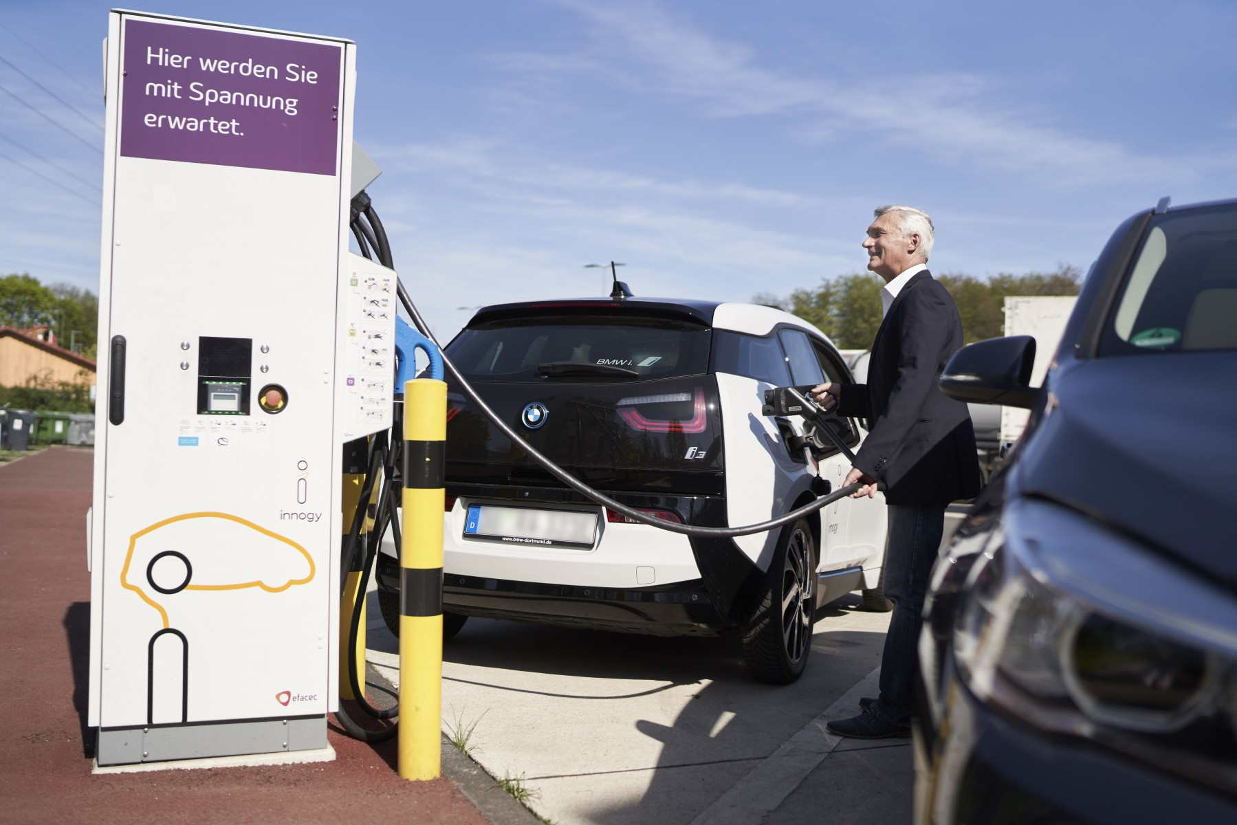 innogy fast charging station in Germany