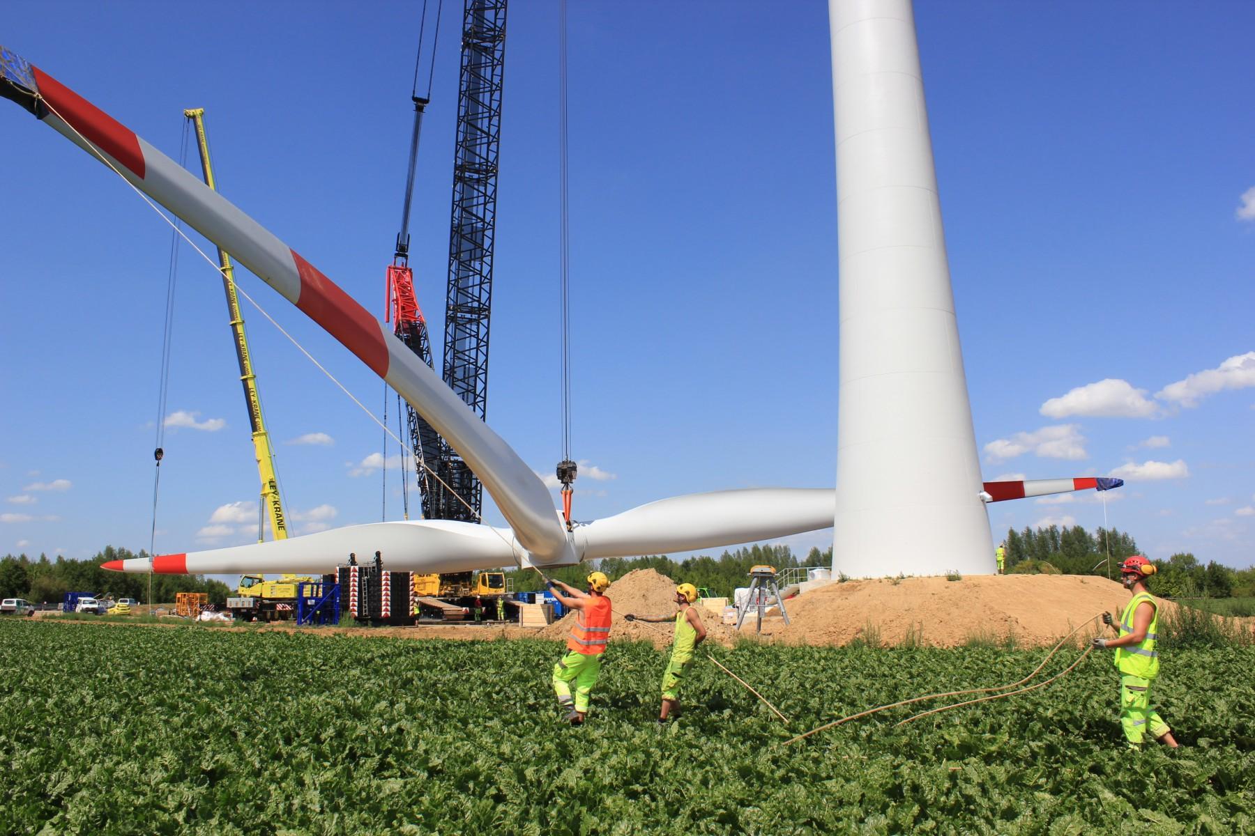 indeland Windpark Eschweiler: Erste Anlage in Fronhoven installiert