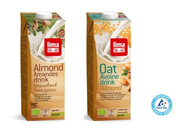collage Almond drinks tetra