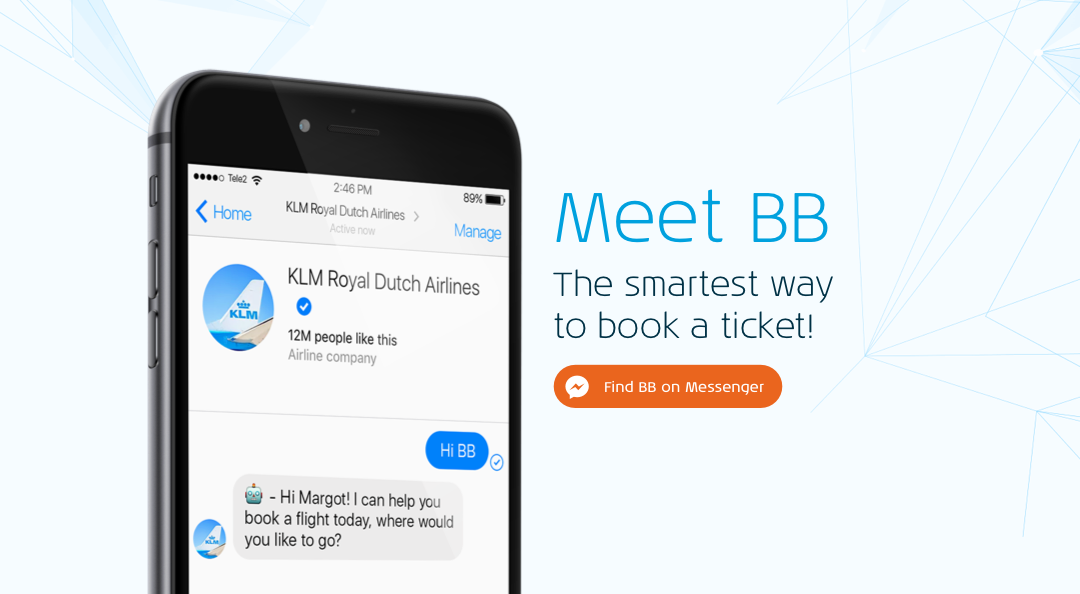 KLM welcomes BlueBot (BB) to its service family