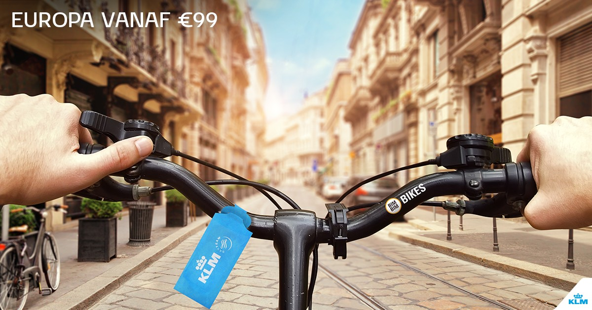 Two free city bikes with a KLM city trip