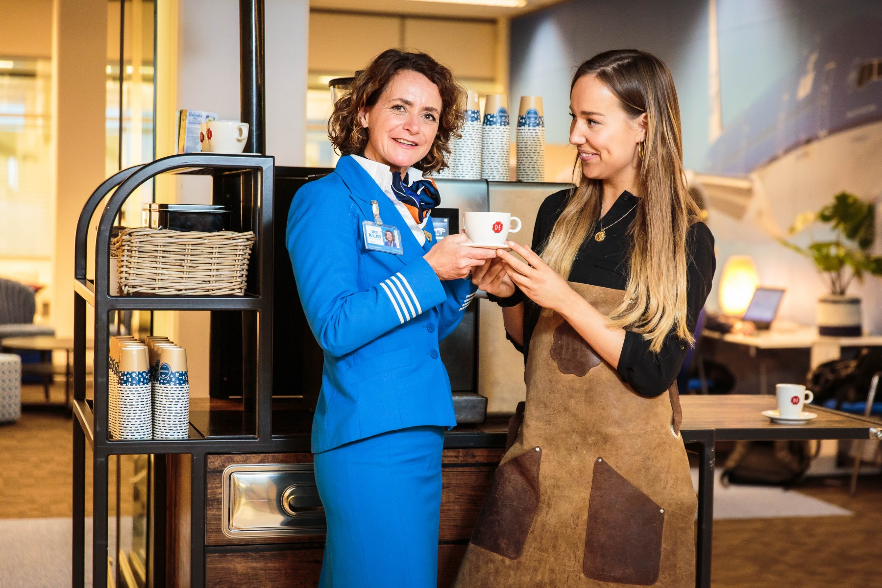 Douwe Egberts coffee on board KLM flights as of Sunday