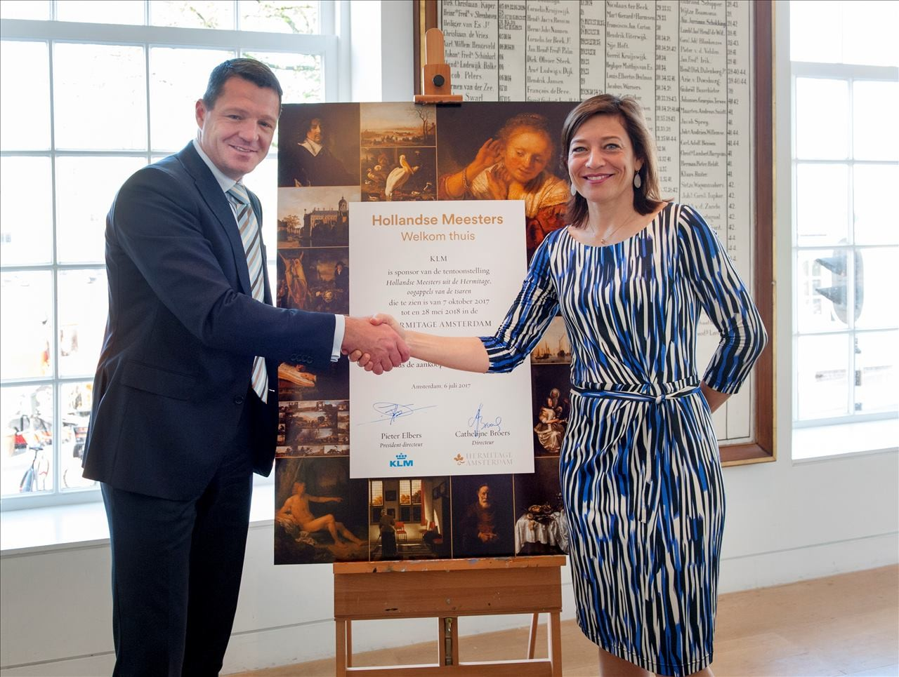 KLM transports Dutch Masters back to the Netherlands after 300 years