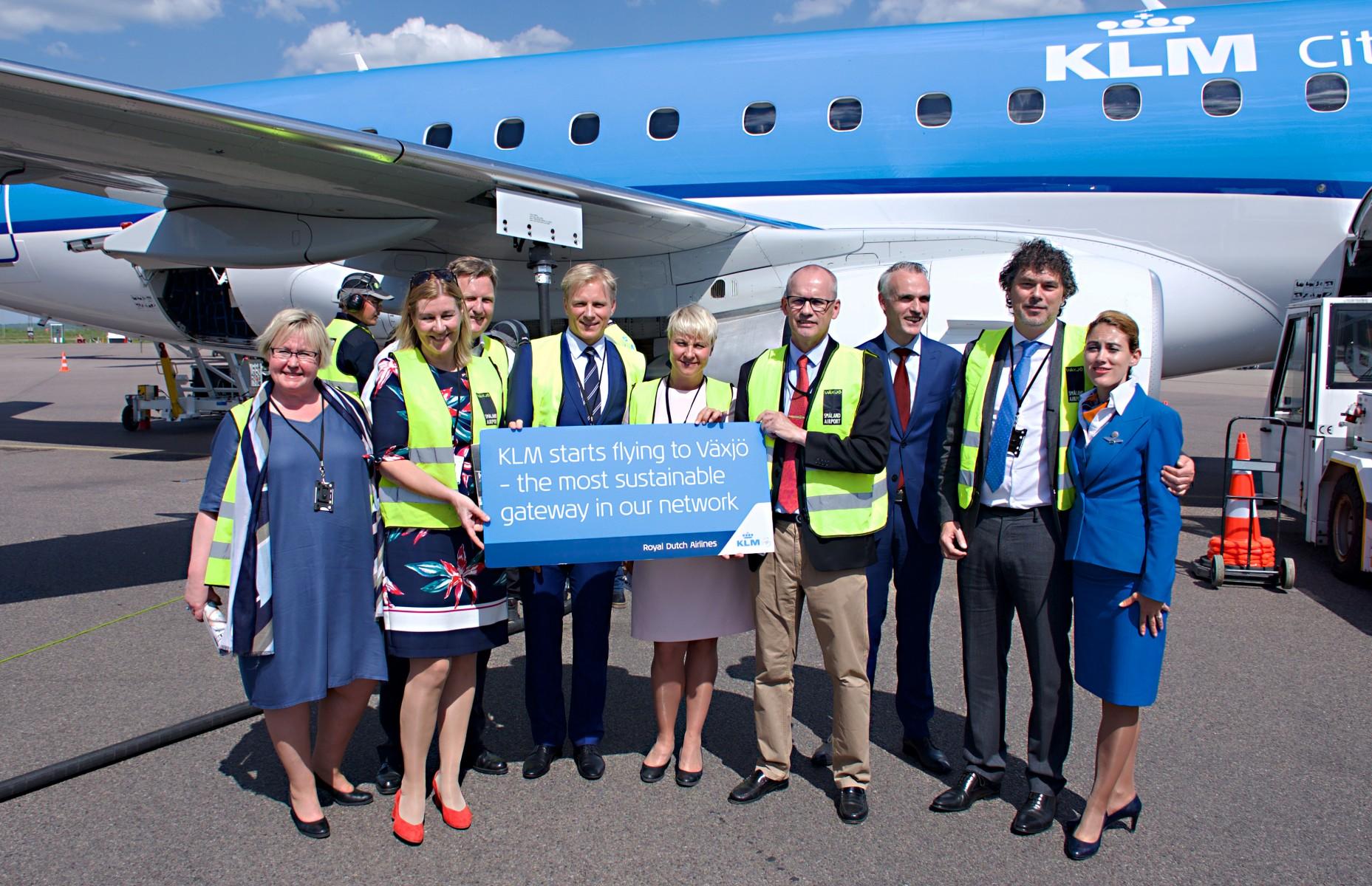 KLM flies sustainably to new destination Växjö