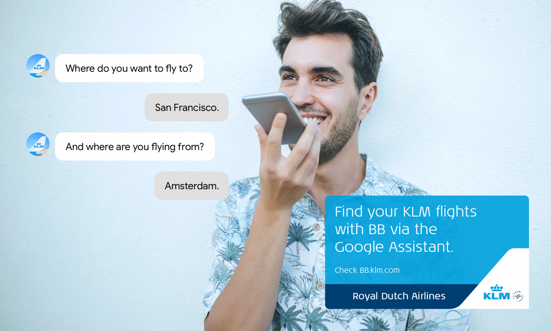 KLM launches Dutch service on the Google Assistant