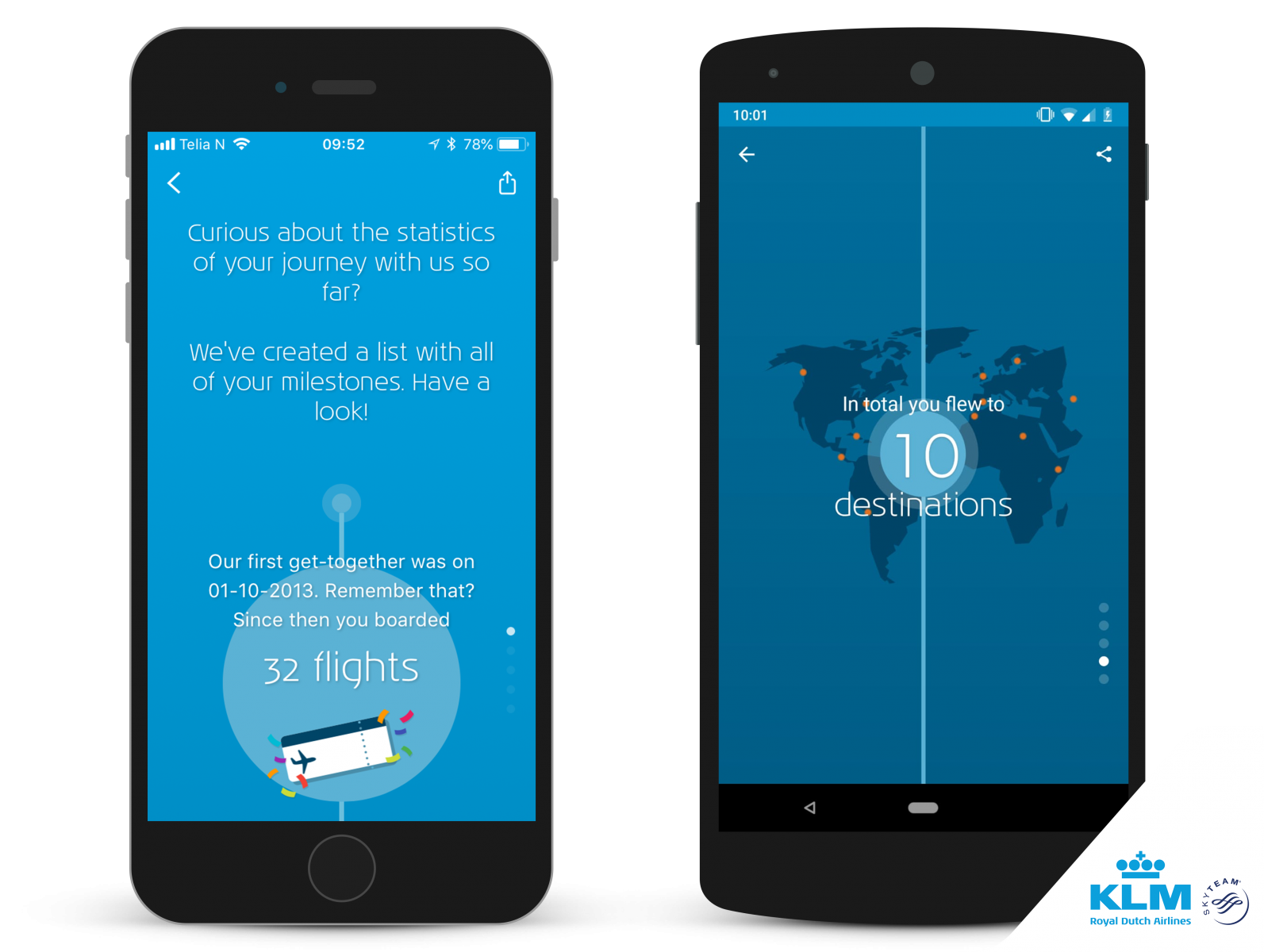 Αποτέλεσμα εικόνας για KLM adds new features to KLM app with Milestones
