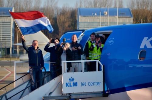 Arrival at Schiphol