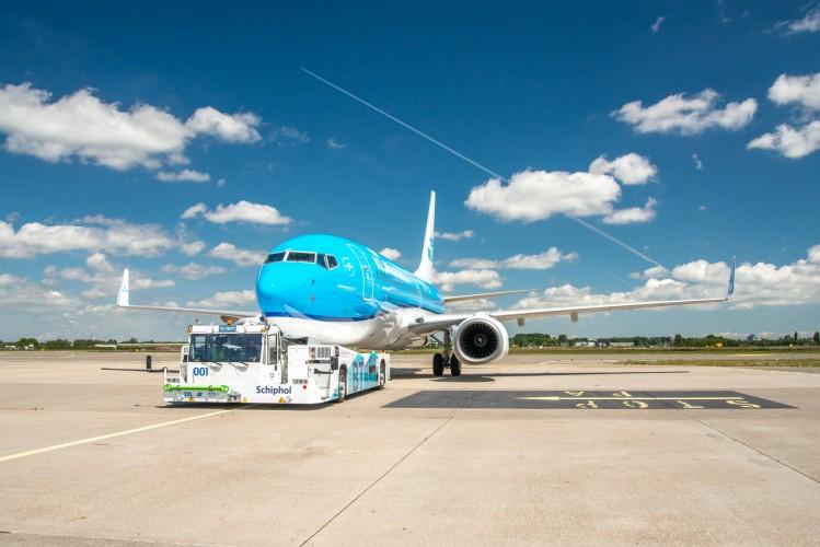 KLM testa taxiamento sustentável de aeronaves em Schiphol
