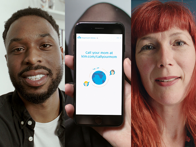 "KLM brings people together with the ""Call your Mom"" Mother's Day campaign"
