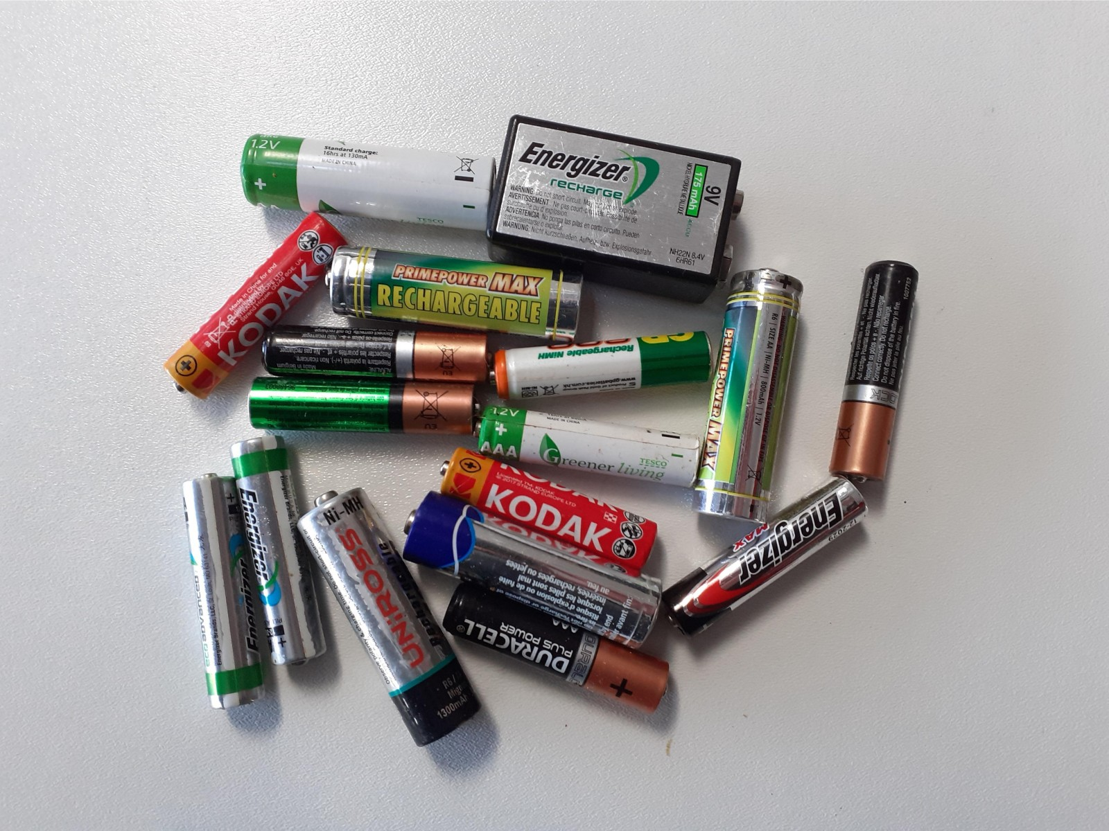 Batteries should be disposed of safely