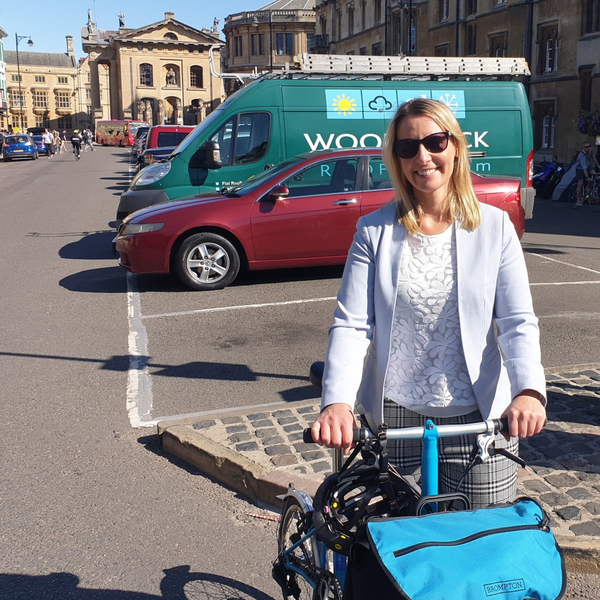 Councillor Bartington and car free day picture