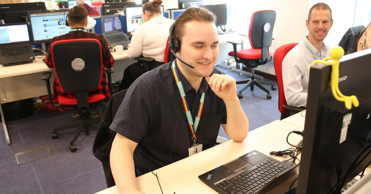 Costumer services staff in the customer contact centre