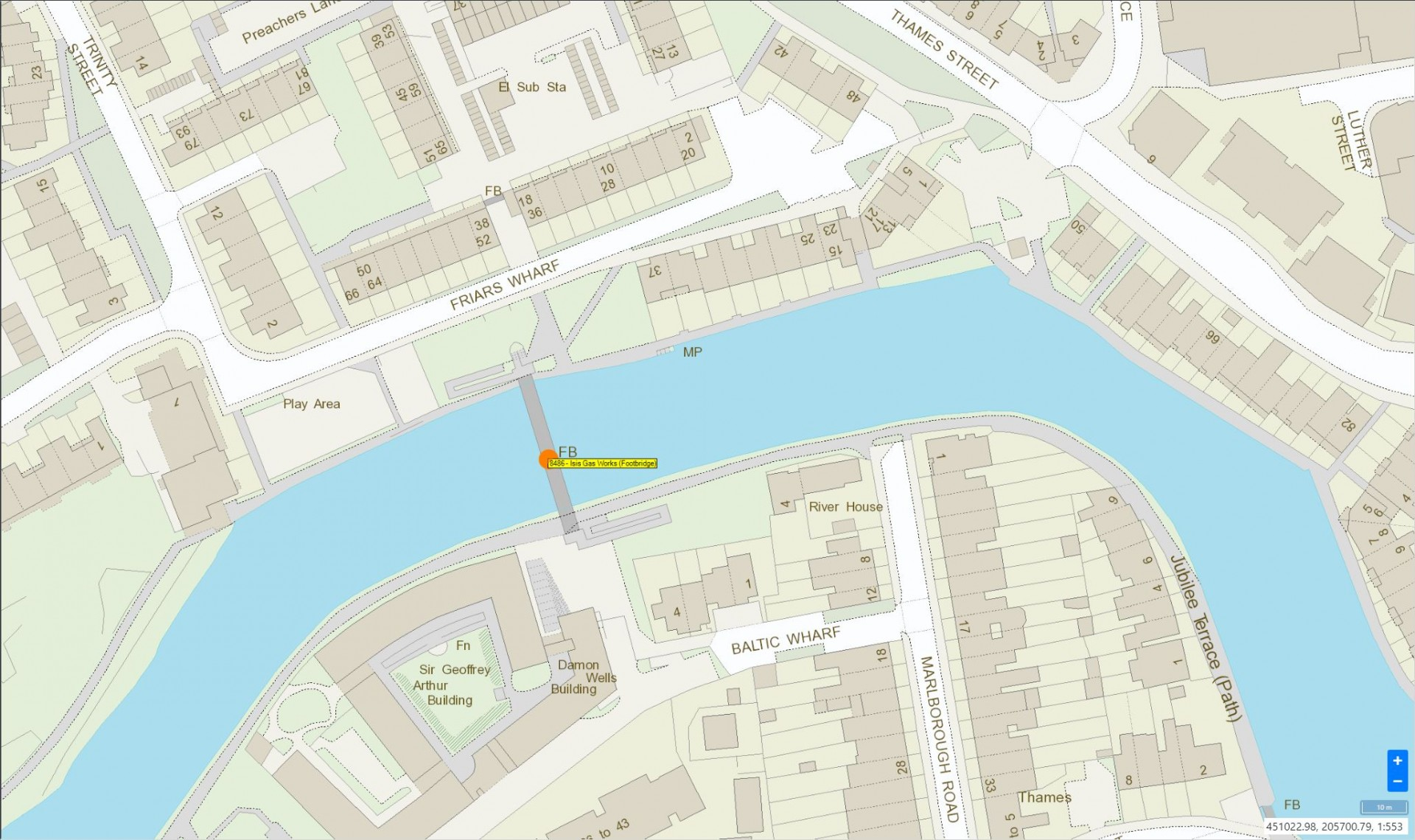Isis Gasworks (Footbridge) Location Plan