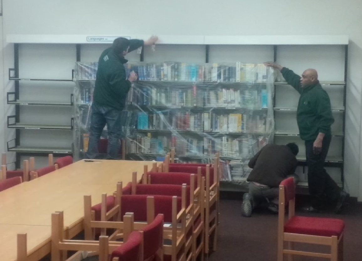 Library removal men