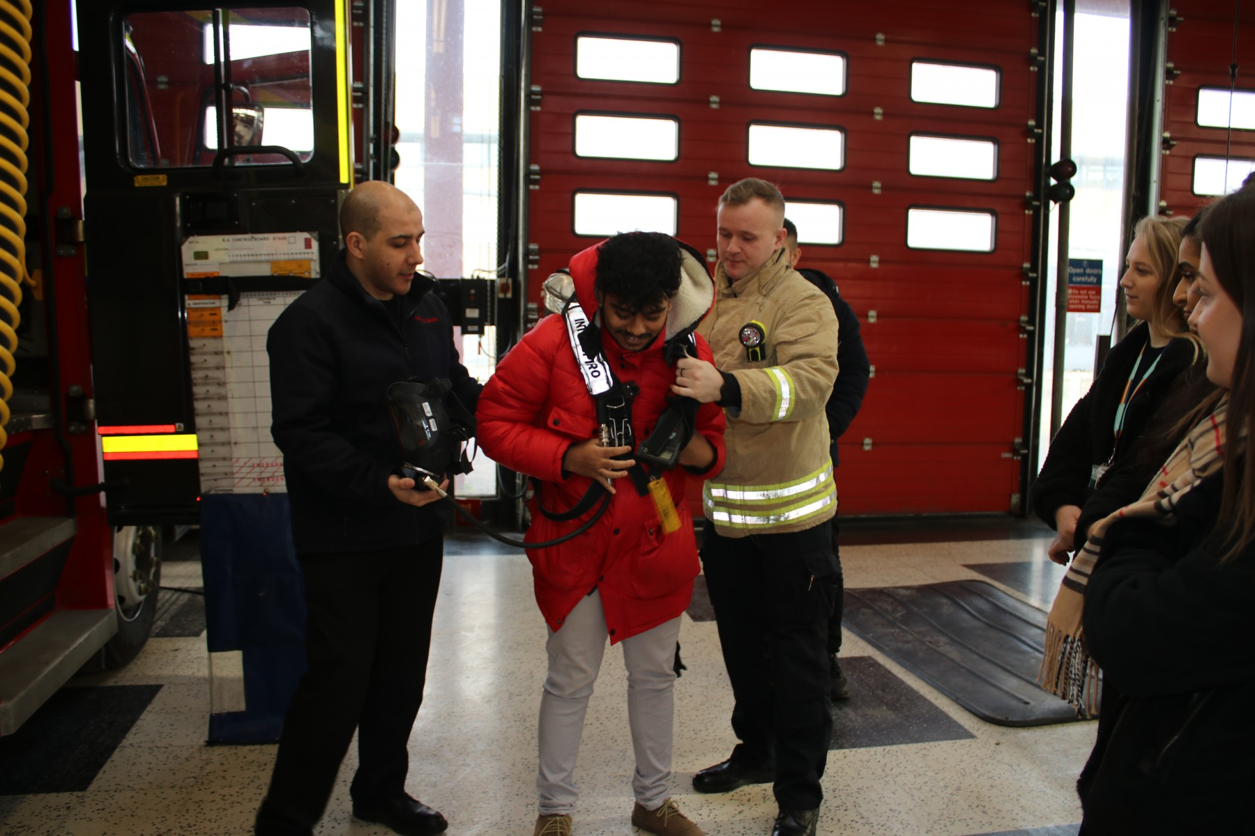 Photo 3 Apprentice Mohammed Hussain with Fire Fighters