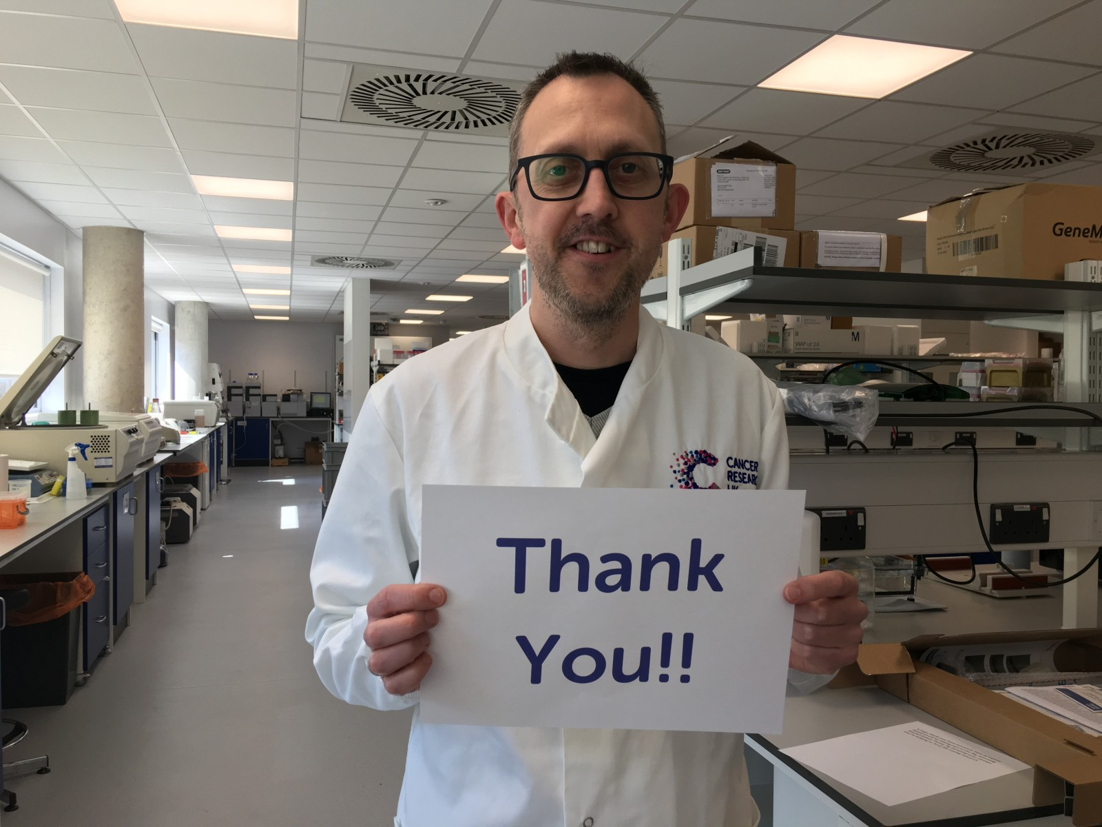 Dr Edd James who works at Cancer Research UK's Southampton Centre