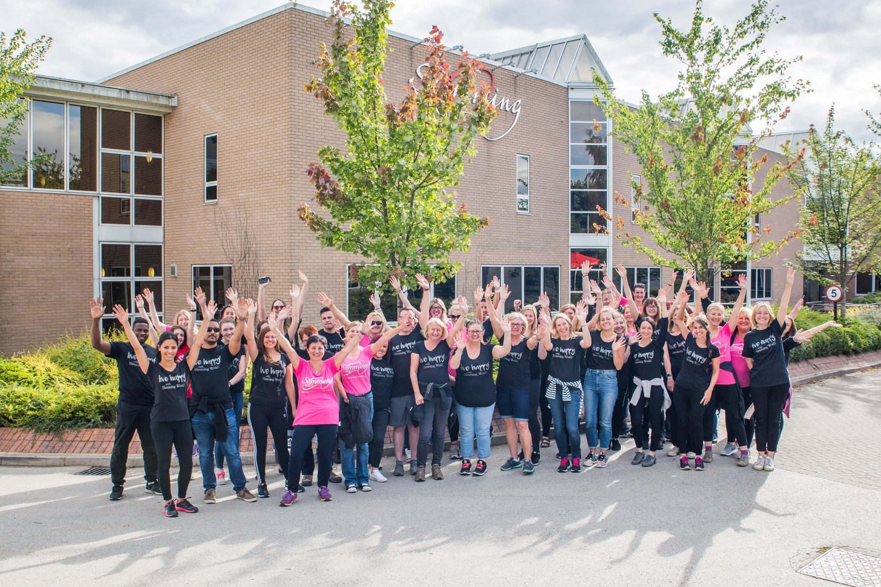 Slimming World staff Walk All Over Cancer for Cancer Research UK