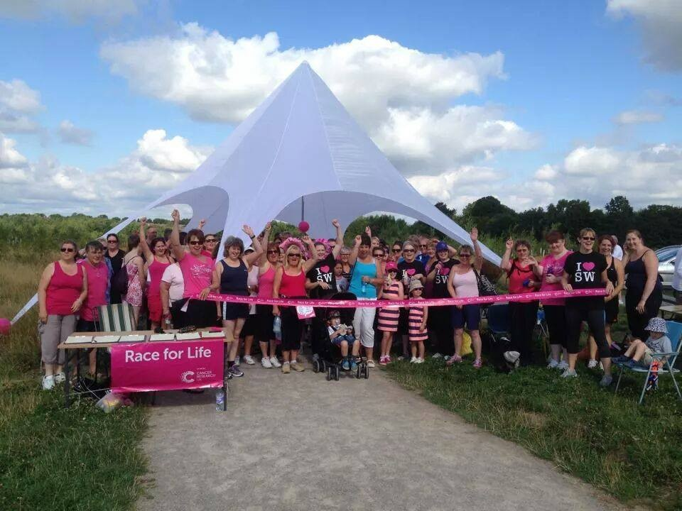 We love this picture of a Race for Life event at Hicks Lodge from Consultant Jo Gilmore. Three big cheers for you!!