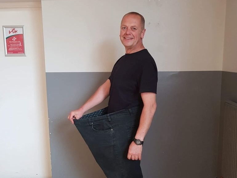 Slimmning World Man of the Year 2020 Jason Dury - target