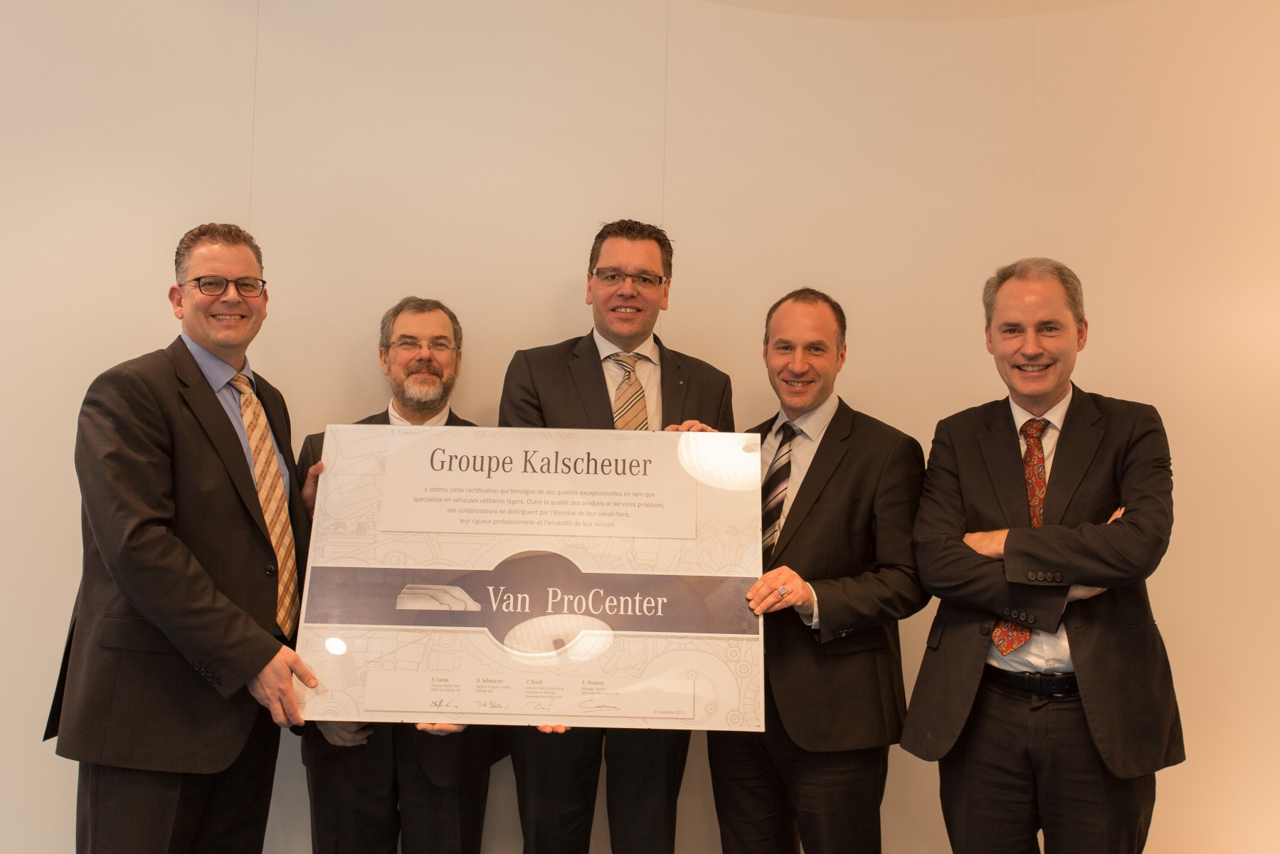 Steffen Lucas, Director Sales  Marketing Vans Europa Denis Regnier  Michael Kalscheuer, Group Kalscheuer Wolfgang Pipperger, Managing Director Vans MB BeLux Peter Brock, Managing Director Trucks MB BeLux