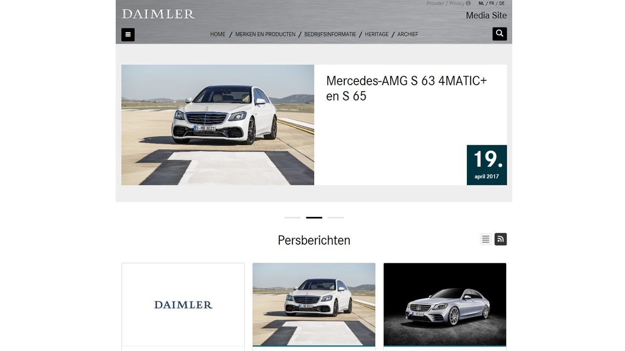 Mercedes benz belux new mediasite for Mercedes benz media site