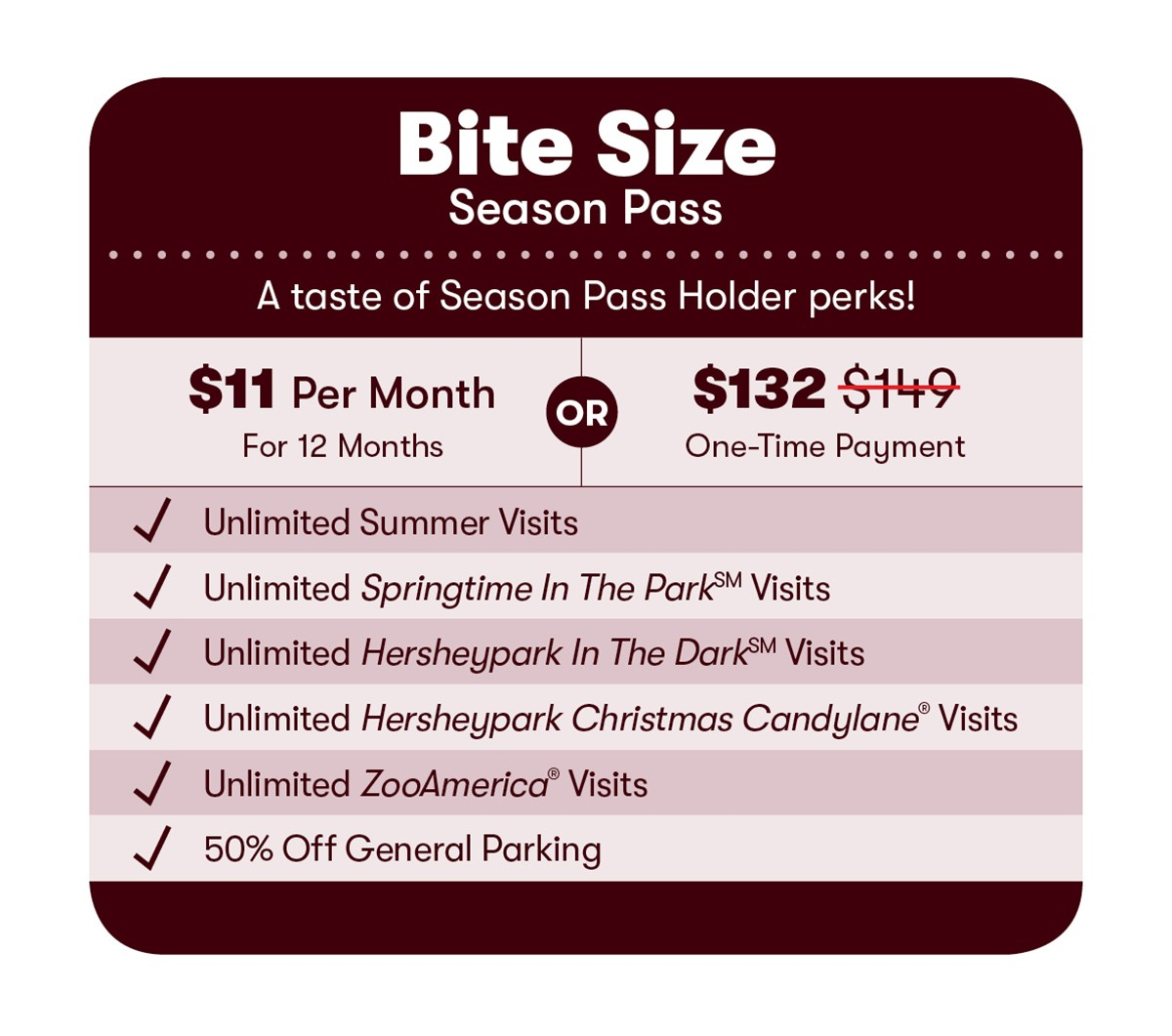 2020 Bite Size Season Pass