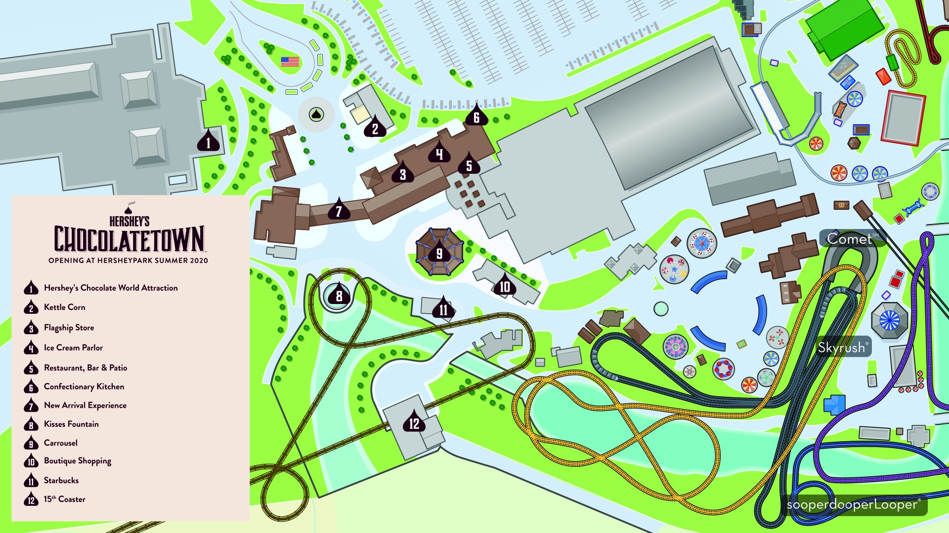 Hershey's Chocolatetown Map