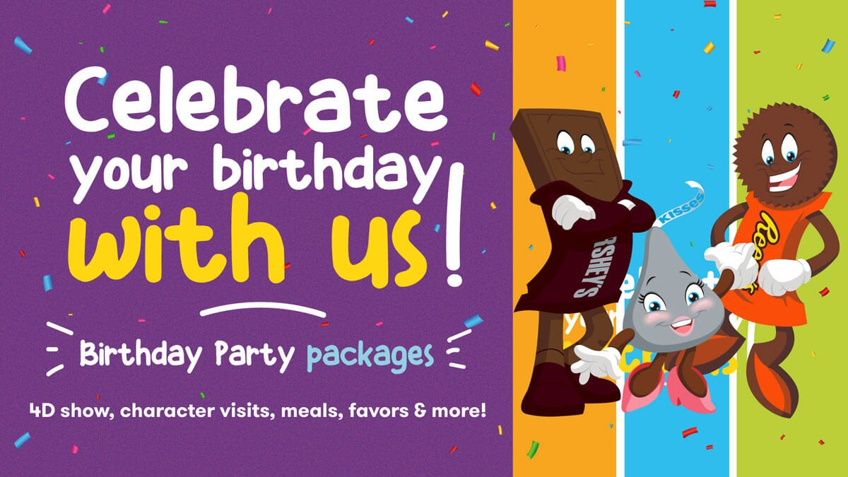 Introducing kids' birthday parties at Hershey's Chocolate World