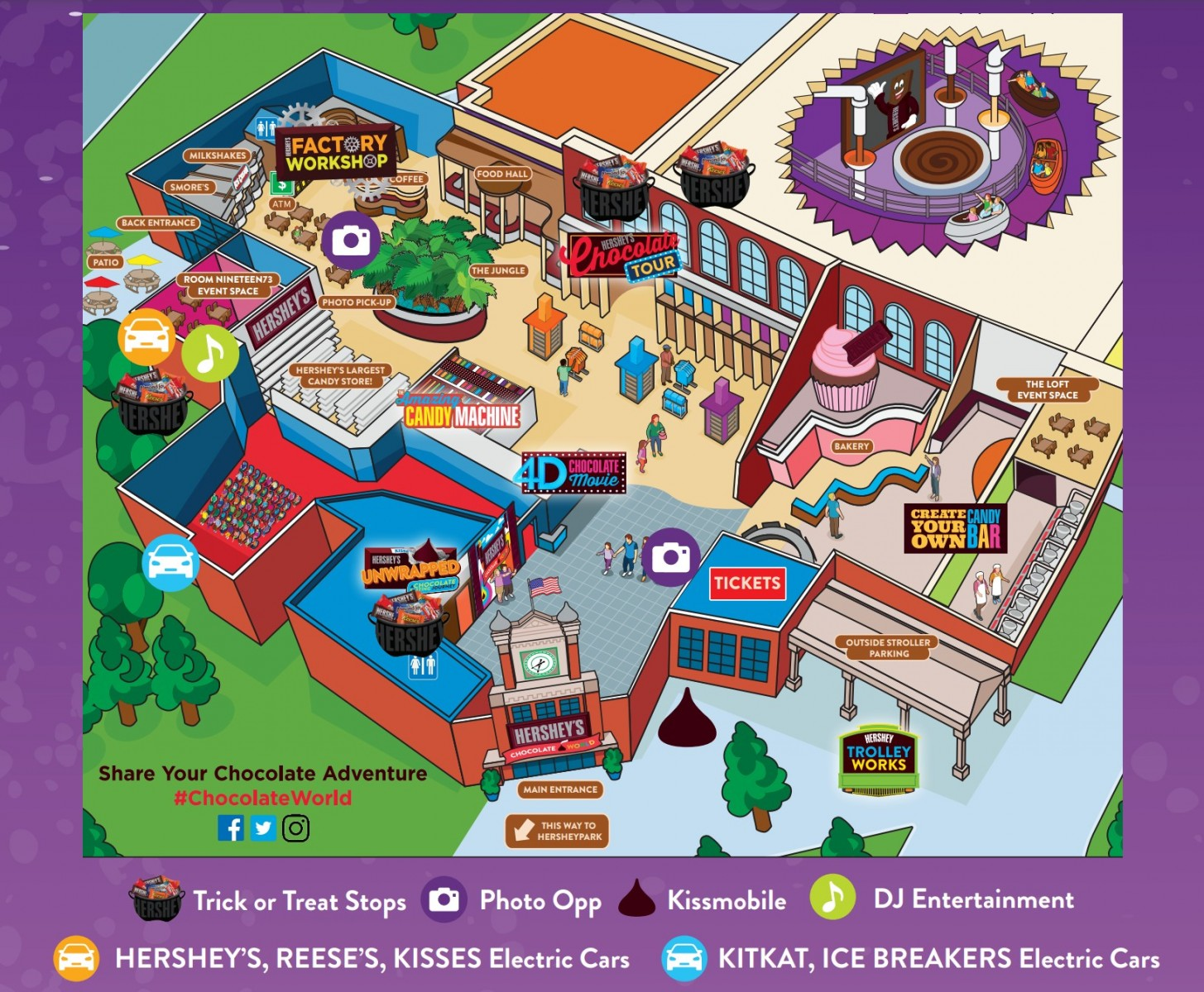 Hershey's Chocolate World Trick-or-Treat Trail Map