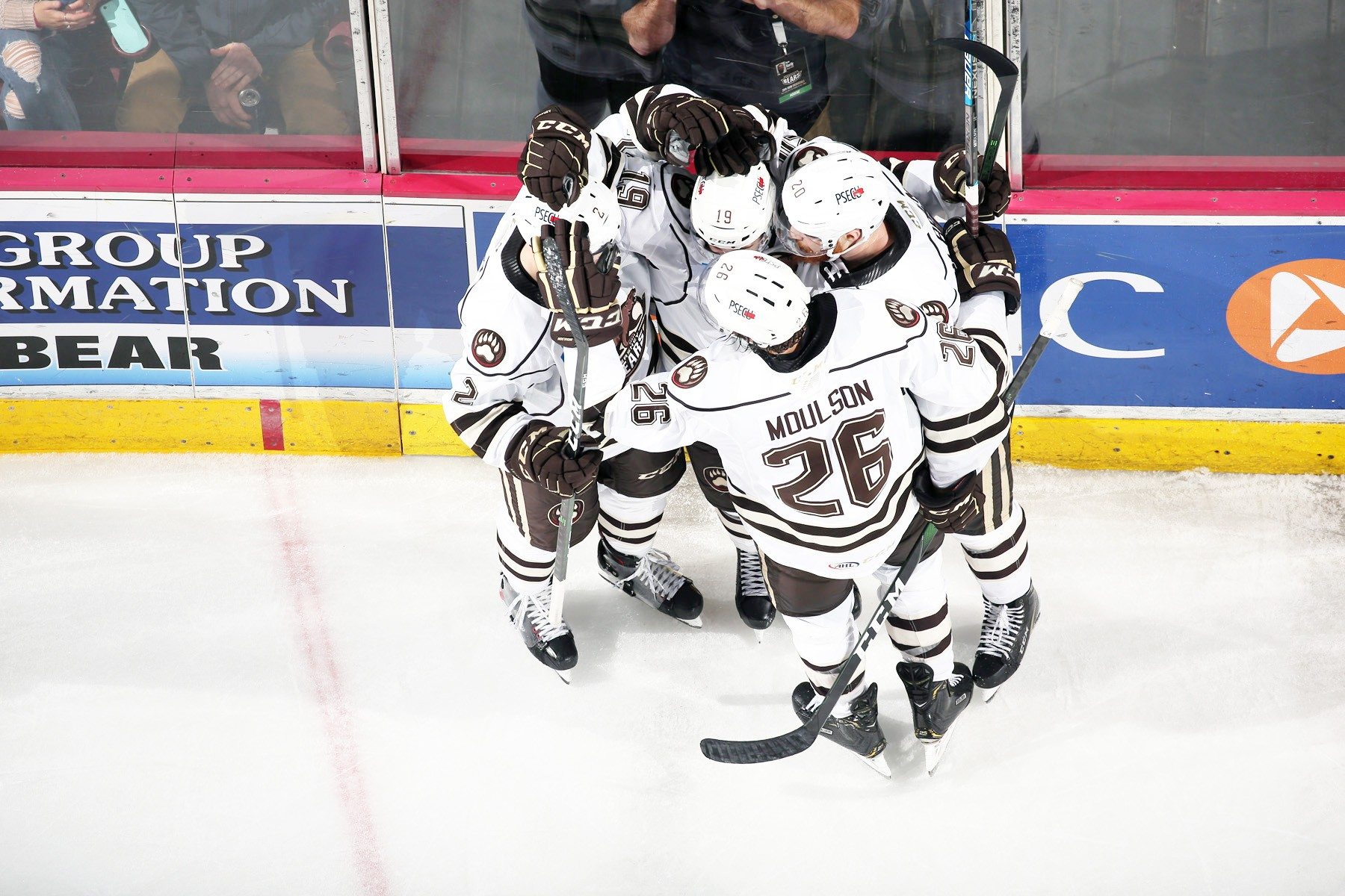 Hershey Bears Hockey Players Celebrating