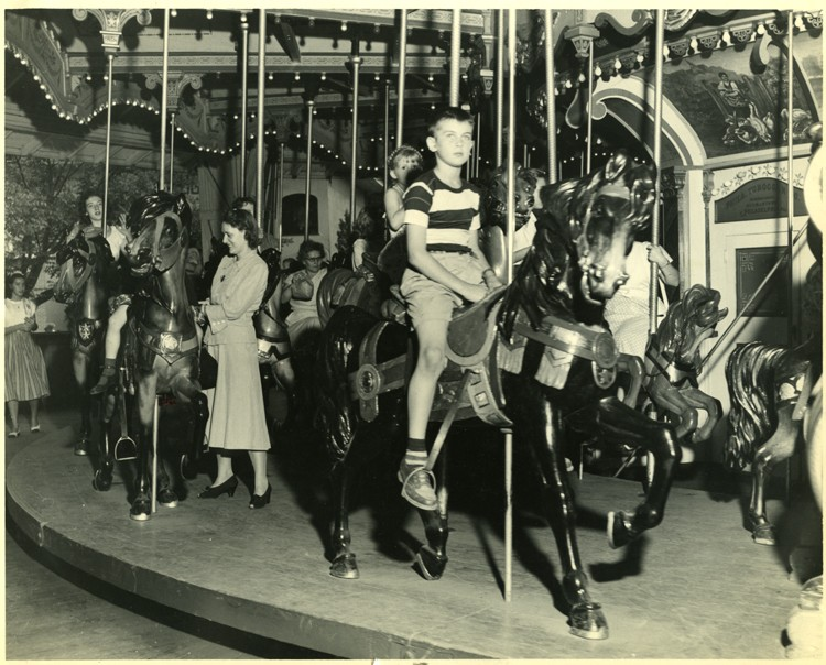 Young Guest on Historic Carrousel 1944-1950